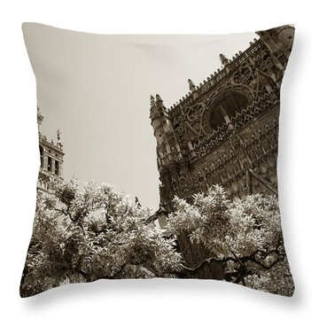 Cathedral Of Seville Throw Pillow