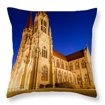 Morning At The Cathedral Of St Helena Throw Pillow