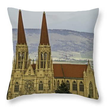 Cathedral Of St Helena Throw Pillow by Sue Smith