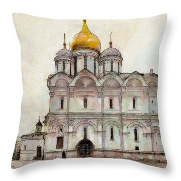 Cathedral Of The Archangel Throw Pillow