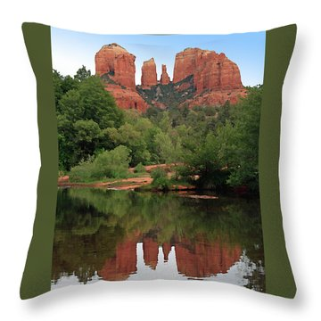 Cathedral Rock 1 Throw Pillow by Ellen Henneke