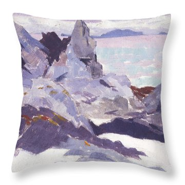 Cathedral Rock  Iona Throw Pillow by Francis Campbell Boileau Cadell