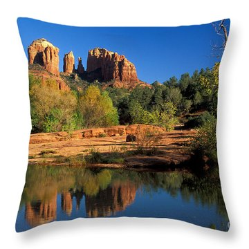 Cathedral Rock Throw Pillow by Mark Newman