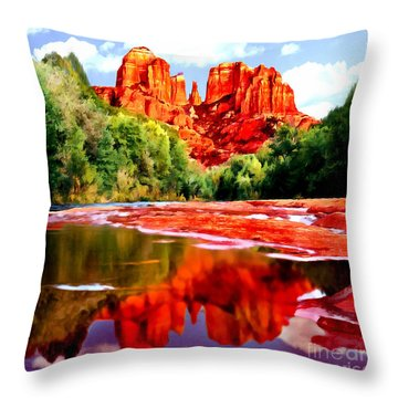 Cathedral Rock Sedona Arizona Throw Pillow