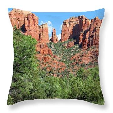 Cathedral Rock Sedona Throw Pillow