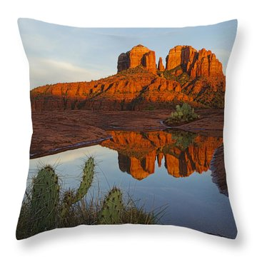 Cathedral Rock's Bath 0299 Throw Pillow