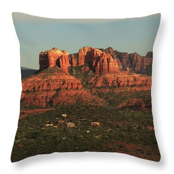 Throw Pillow featuring the photograph Cathedral Rocks In Sedona by Alan Vance Ley