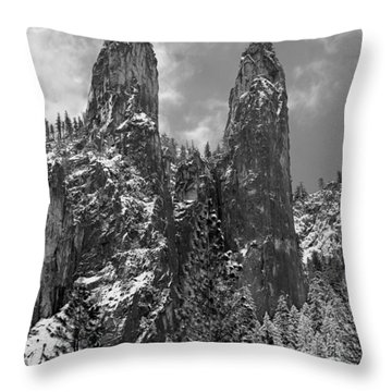 Cathedral Spires Throw Pillow