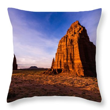 Cathedral Temples Throw Pillow