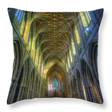 Cathedral Vertorama Throw Pillow by Ian Mitchell