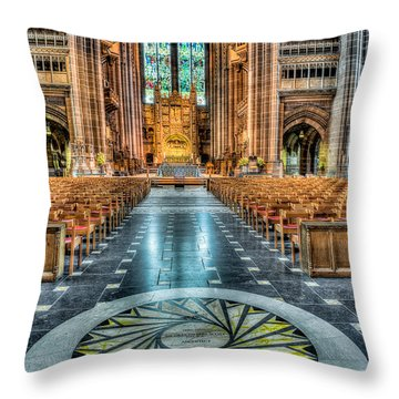 Cathedral Way Throw Pillow by Adrian Evans