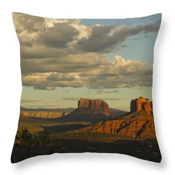 Cathedral's Shadows Throw Pillow by Tom Kelly