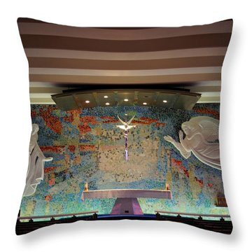 Catholic Chapel At Air Force Academy Throw Pillow