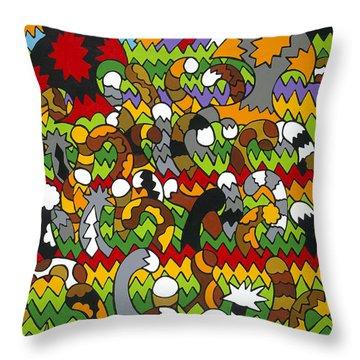 Catnip Throw Pillow by Rojax Art