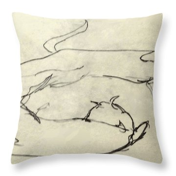 Cats A-courting Throw Pillow