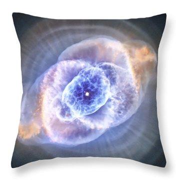 Cat's Eye Nebula Throw Pillow by Adam Romanowicz