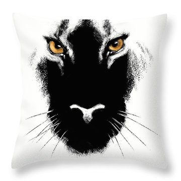 Throw Pillow featuring the digital art Cat's Eyes by Aaron Blaise