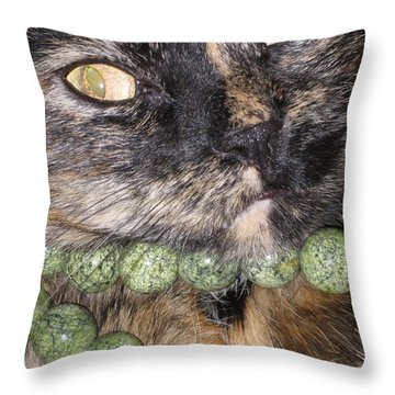 One In A Million... Beauty Of Cat's Eyes. Hello Pearl Collection Throw Pillow