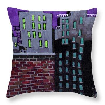 Cat's Night Throw Pillow