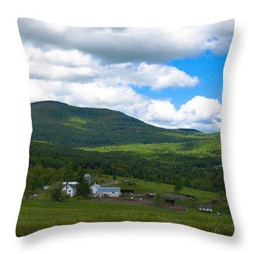 Catskill New York Farm Throw Pillow