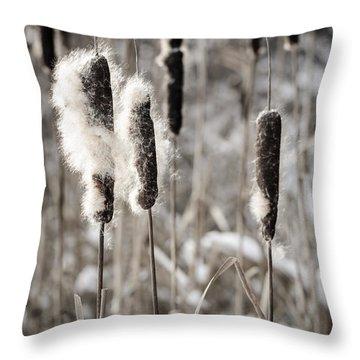 Cattails Throw Pillows