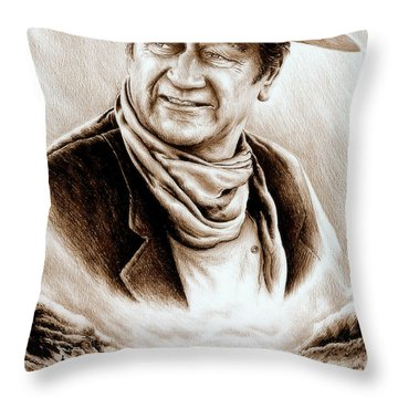 Cattle Drive Sepia Soft Throw Pillow