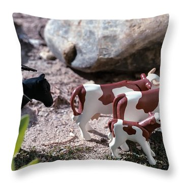 Cattle Rustler Throw Pillow
