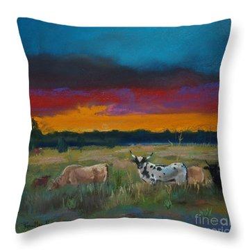 Cattle's Cadence Throw Pillow