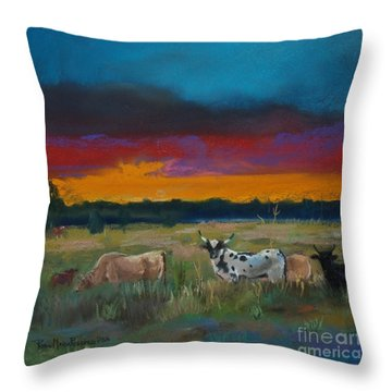 Cattle's Cadence Throw Pillow