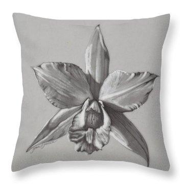 Cattleya II - Iwanagara Throw Pillow