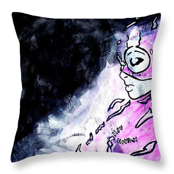 Catwoman Purple Suit Throw Pillow