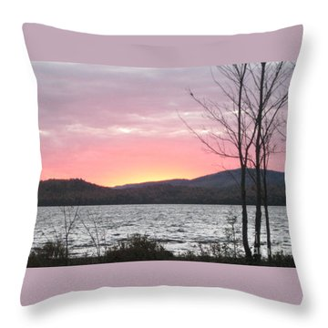 Caucomgomoc Lake Sunset In Maine Throw Pillow