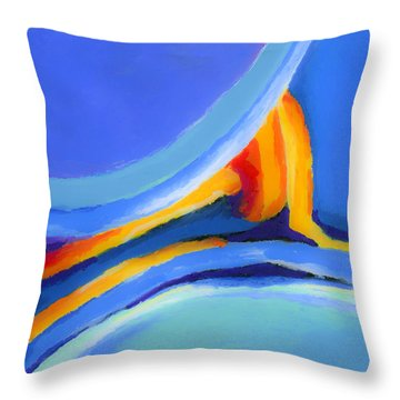 Caught Between Throw Pillow by Stephen Anderson