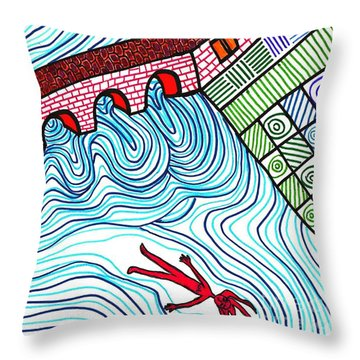 Caught In The Current Throw Pillow by Sarah Loft
