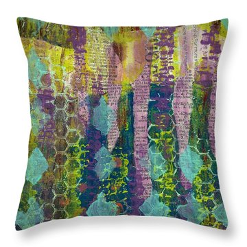 Caught In The Net Throw Pillow by Lisa Noneman