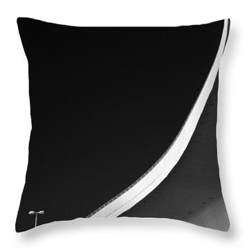 Causeway Arc Clearwater Florida Black And White Throw Pillow