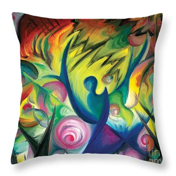 Causing A Scene Throw Pillow by Tiffany Davis-Rustam