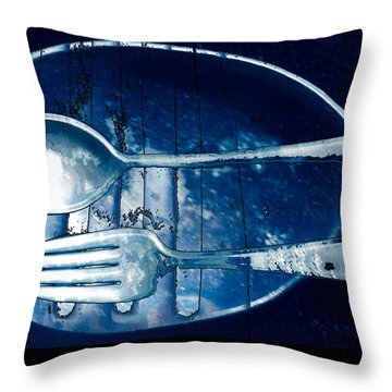 Blue Luster Throw Pillow