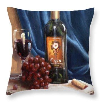 Cava Wine Throw Pillow
