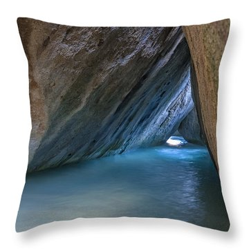 Cave At The Baths Throw Pillow