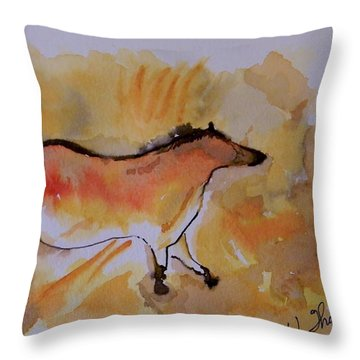Cave Drawing Throw Pillow by Warren Thompson