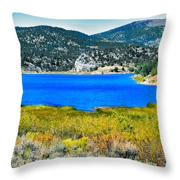 Cave Lake Throw Pillow by Robert Bales