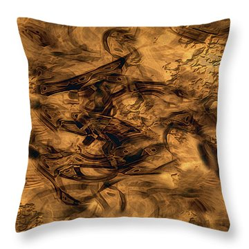 Cave Painting Throw Pillow by RC deWinter