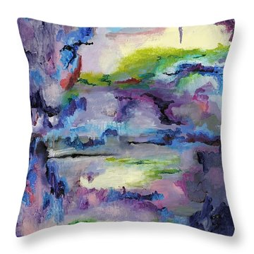 Cave Painting Throw Pillow
