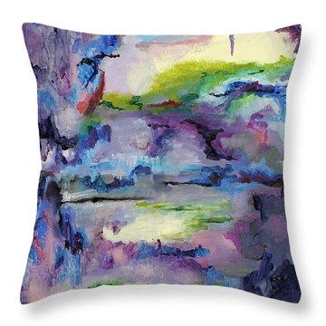 Cave Painting Throw Pillow by Regina Valluzzi