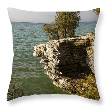 Cave Point - Signed Throw Pillow