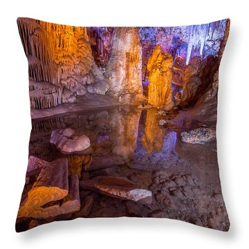 Cave Reflection Throw Pillow