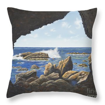 Cave View Throw Pillow