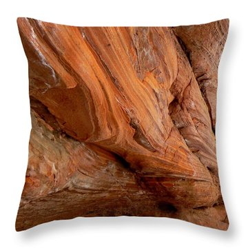 Cave Wall Spring Creek Trail Utah Throw Pillow by Deborah Moen