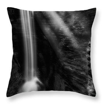 Cavern Cascade Throw Pillow by Bill Wakeley